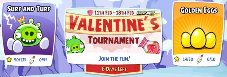 Турнир для влюблённых Angry Birds Friends