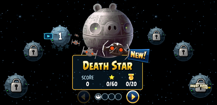 Angry Birds Star Wars Facebook: Эпизод Death Star