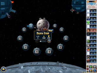Angry Birds Star Wars Facebook - Death Star: Выбор эпизода