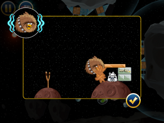 Angry Birds Star Wars Escape from Hoth - Усиление Чубакки