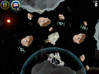 Angry Birds Star Wars Escape from Hoth - Уровень 3-22