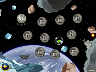 Angry Birds Star Wars Escape from Hoth - Выбор уровня