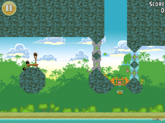 Angry Birds Free: Уровень 9-1