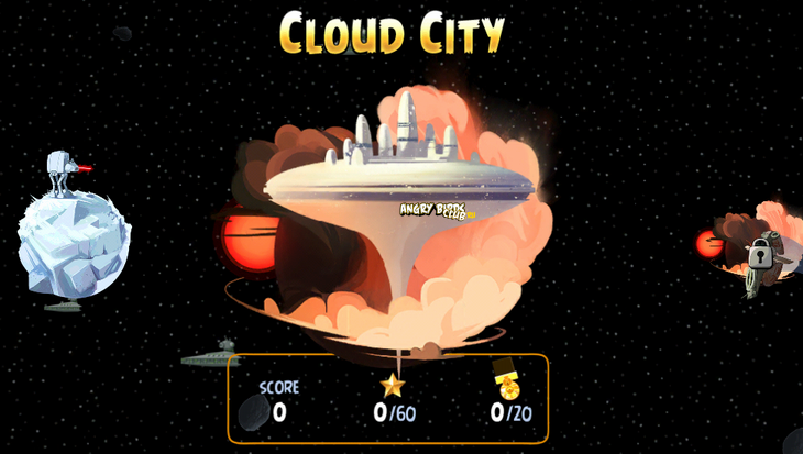 Вышла Angry Birds Star Wars Cloud City