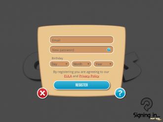 The Croods: Регистрация аккаунта