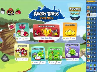 Angry Birds Friends Pig Tales: Главное меню