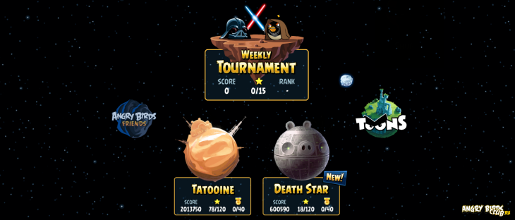 Обновилась Angry Birds Star Wars Facebook