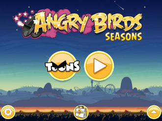 Angry Birds Seasons Abra-Ca-Bacon - Меню