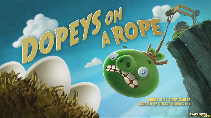 Тизер Angry Birds Toons 14 Dopeys On a Rope