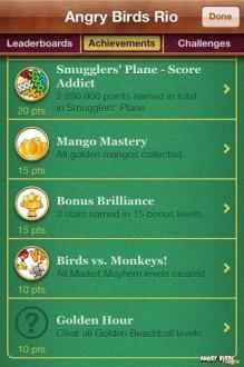 """Достижение Angry Birds Rio """"Golden Hour"""""""