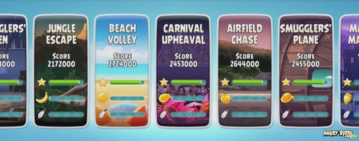 Обновление Angry Birds Rio - новый дизайн и новые уровни