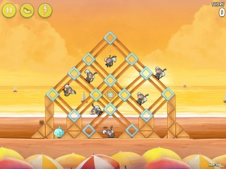Angry Birds Rio: Golden Beachball - Уровень 16