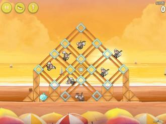 Angry Birds Rio: Golden Beachball - Уровень 16