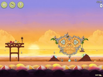 Angry Birds Rio: Golden Beachball - Уровень 30