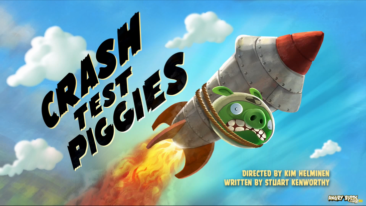 Тизер Angry Birds Toons 17 Crash Test Piggies