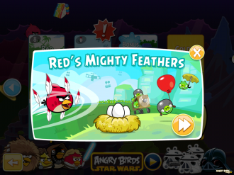 Angry Birds - Red's Mighty Feathers - Первый запуск