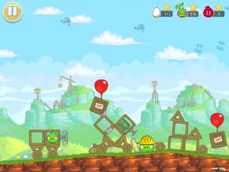 Red's Mighty Feathers - База Свиней в начале уровня
