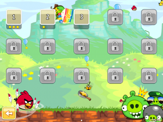 Angry Birds - Red's Mighty Feathers - Выбор уровня