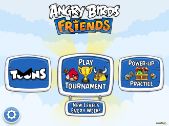 Angry Birds Friends Mobile: Главное меню