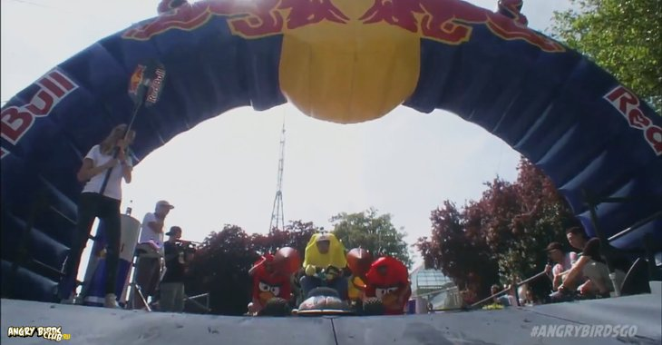 Angry Birds Go! Тизер от RedBull