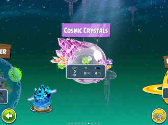 Angry Birds Space Cosmic Crystalls - Выбор эпизода
