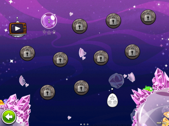 Angry Birds Space Cosmic Crystalls - Выбор уровня