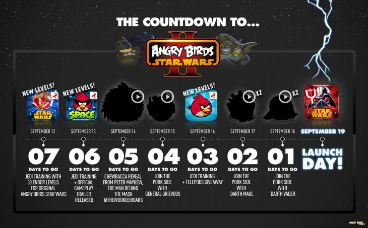 Angry Birds Star Wars II обратный отсчёт - полная версия