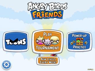 Хэллоуин-турниры Angry Birds Friends - Меню