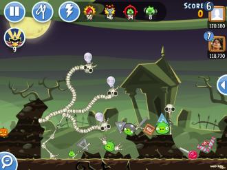Хэллоуин-турниры Angry Birds Friends - Уровень