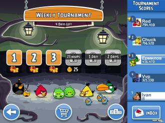 Хэллоуин-турниры Angry Birds Friends - Выбор Уровня