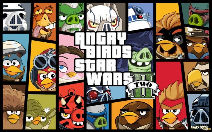 Герои Angry Birds Star Wars II - Полный список