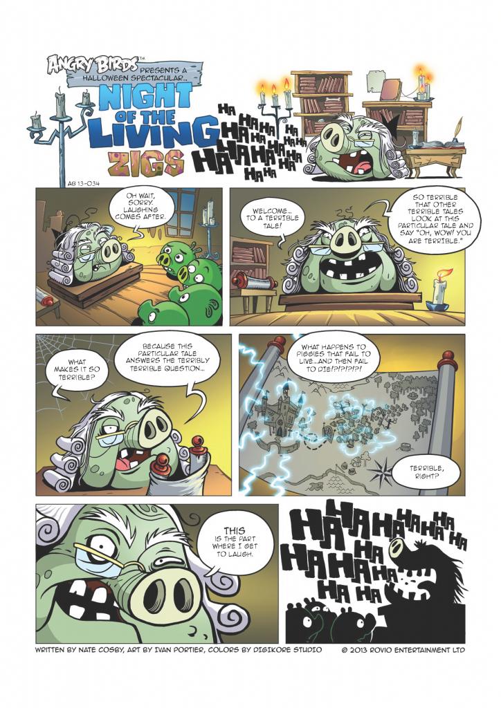 Комикс Angry Birds: Night of The Living Zigs - Часть 1
