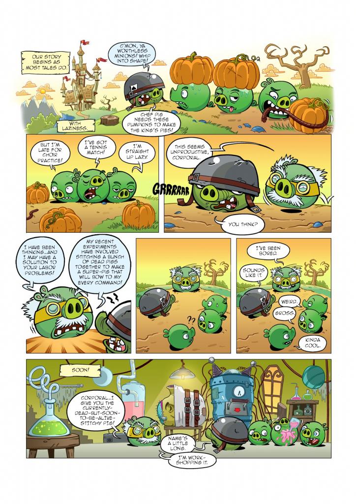 Комикс Angry Birds: Night of The Living Zigs - Часть 2