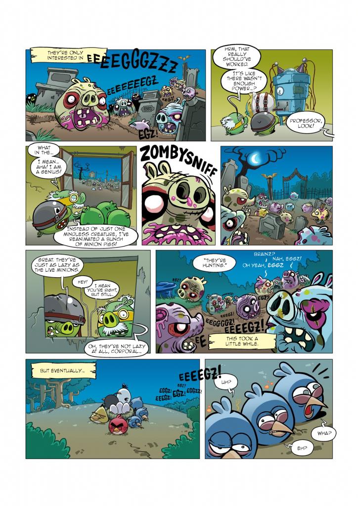 Комикс Angry Birds: Night of The Living Zigs - Часть 4