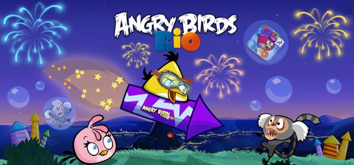 Вышла Angry Birds Rio Rocket Rumble