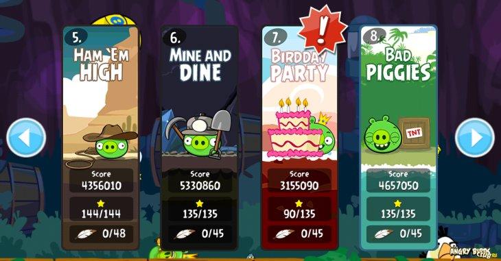 4-ое юбилейное обновление Angry Birds