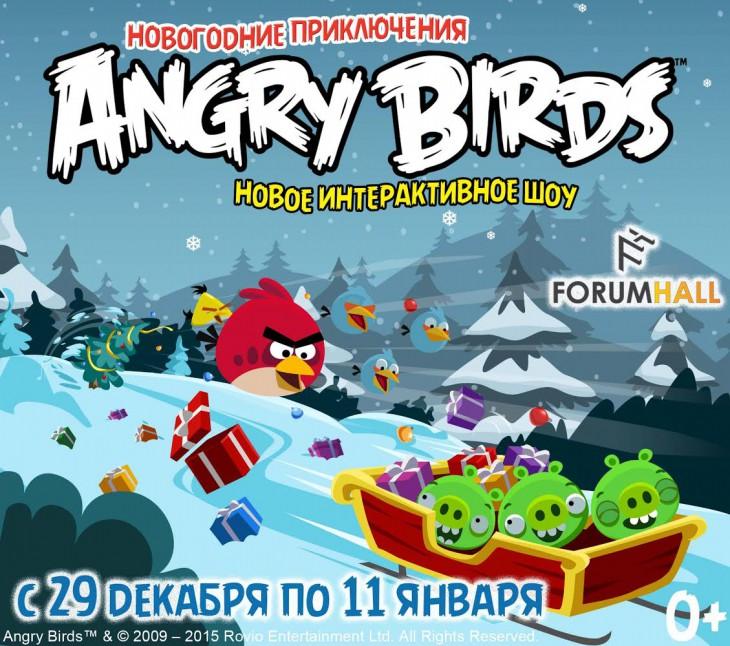 Новогоднее шоу Angry Birds